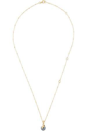 KASUN LONDON Exposed pearl pendant necklace