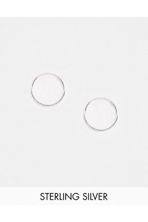 Kingsley Ryan 20mm fine hoop earrings in sterling