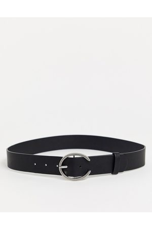 Glamorous Waist and hip belt in with silver minimal round buckle