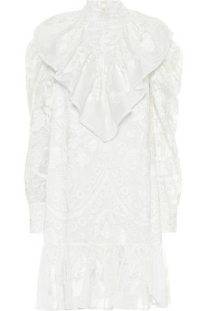 Erdem Arturo cotton and silk minidress