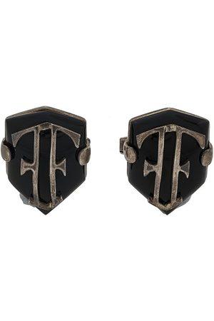 Gianfranco Ferré 2000s shield cufflinks