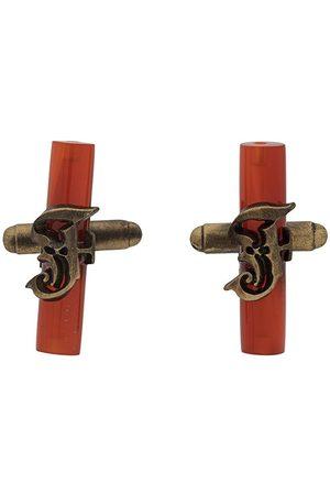 Gianfranco Ferré 2000s logo cufflinks