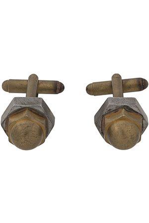 Gianfranco Ferré 2000s screw motif cufflinks