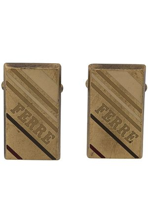 Gianfranco Ferré 2000s rectangular logo cufflinks