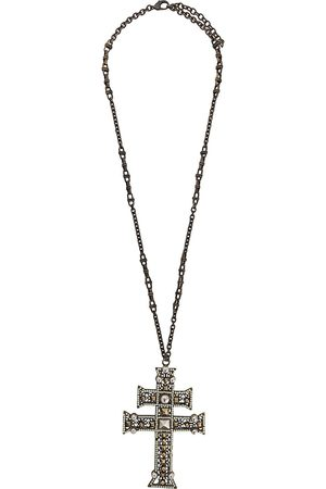 Gianfranco Ferré 2000s cross pendant necklace