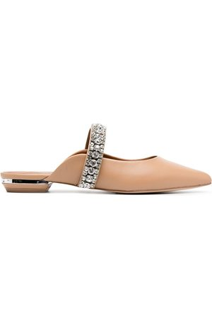 Kurt Geiger London Crystal embellished slippers