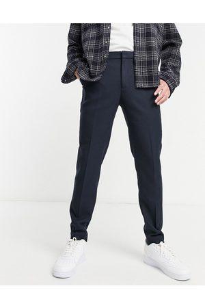 ASOS Wedding super skinny suit trousers in wool look in