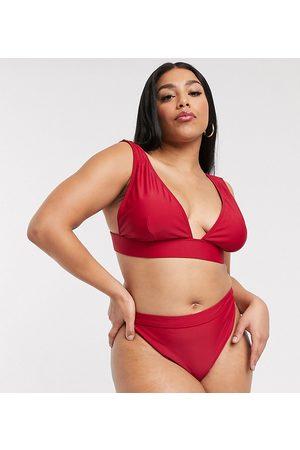 South Beach Exclusive mix and match high waist bikini bottom in plum