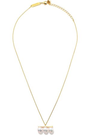 Tasaki 18kt yellow Balance Neo Collection Line Akoya pearl pendant necklace