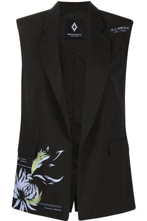 MARCELO BURLON Flower Shipping sleeveless blazer
