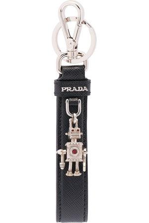 Prada Logo-plaque keychain