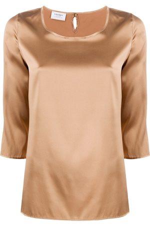 Snobby Sheep 3/4 sleeves round-neck blouse
