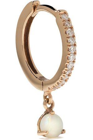 White Bird 18kt rose gold Ada diamond and opal single earring