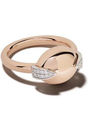 Botier Women Rings - 18kt rose gold Earth diamond ring