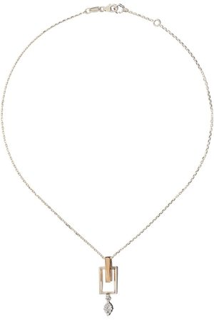 Yeprem 18kt white and rose gold diamond pendant necklace
