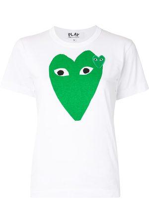 Comme des Garçons Heart logo print slim fit T-shirt