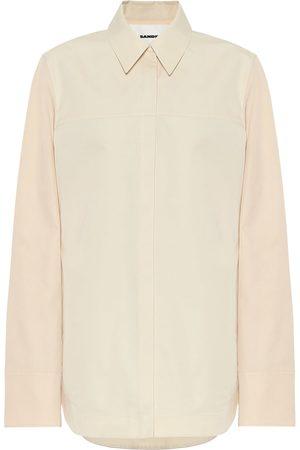 Jil Sander Cotton-and-silk poplin shirt