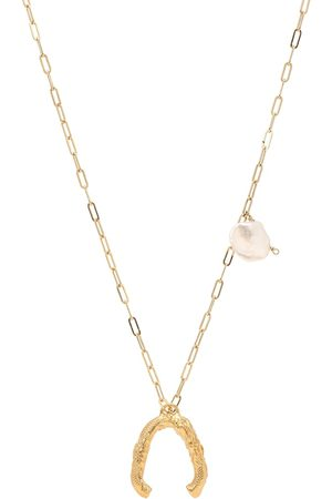 Alighieri Women Necklaces - The Flashback River 24kt -plated necklace with pearls