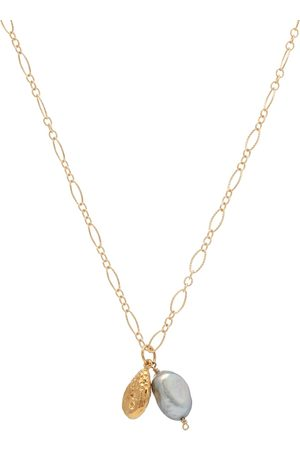 Alighieri The Solitary Tear at Dusk 24kt -plated necklace with pearls