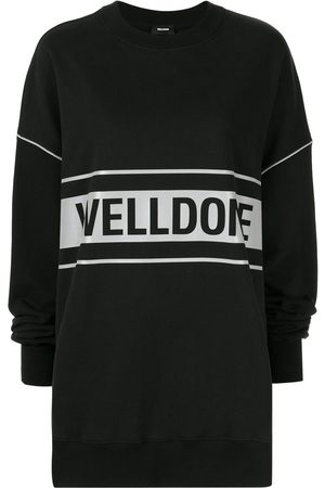 We11 Done Well Done' print hoodie