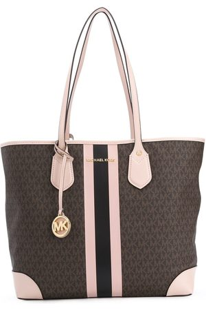 Michael Kors Striped monogram print tote bag
