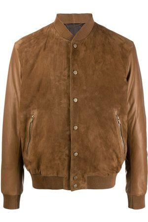 Ajmone Suede-panel bomber jacket