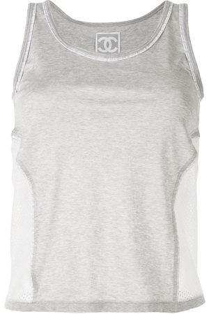 CHANEL Women Tank Tops - 2004 Sport line mesh panel tank