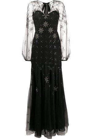 TEMPERLEY LONDON Star-embellished tie-back gown