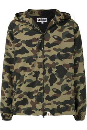 BAPE Camouflage print hooded jacket