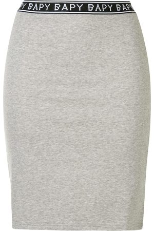 BAPY Logo-trim fitted skirt