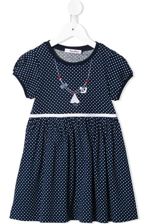 Familiar Dotted midi dress