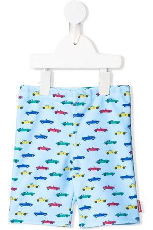 Familiar Car-print swim shorts