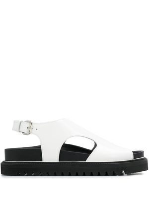 Plan C Open toe flat sandals