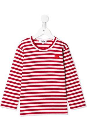 Comme Des Garçons Play Kids Chest logo T-shirt