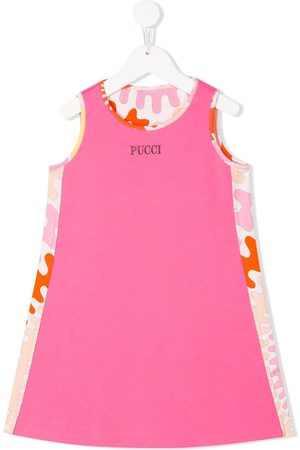 Emilio Pucci Raised-logo cotton dress