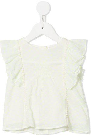 Velveteen Izzy frilled blouse