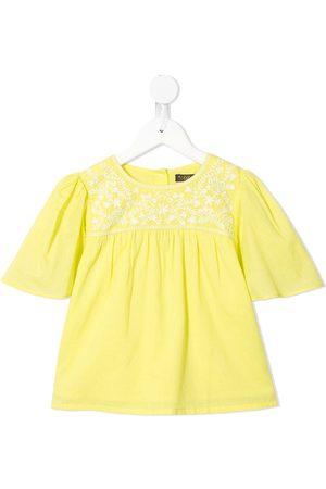 Velveteen Asha floral embroidered T-shirt