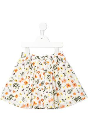 Velveteen Chrissy floral print skirt