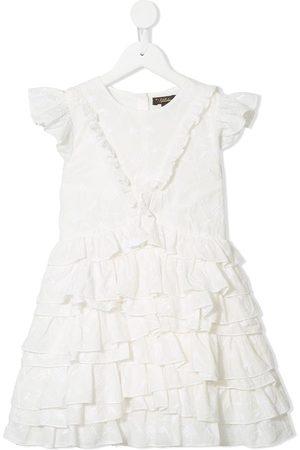 Velveteen Geena layered ruffle dress