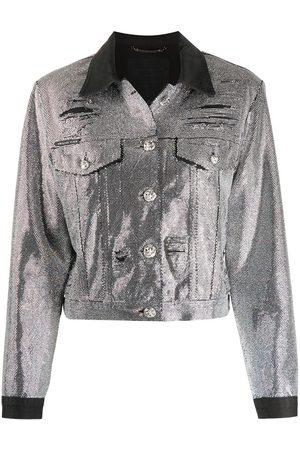 Philipp Plein Crystal-embellished denim jacket