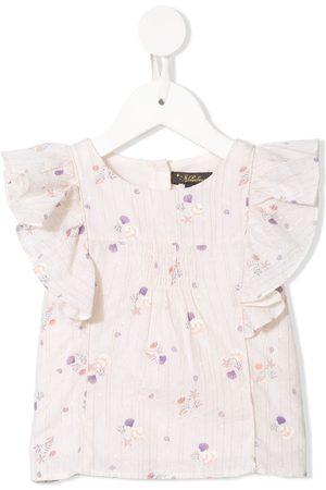 Velveteen Izzy floral print blouse