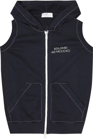 Brunello Cucinelli Exclusive to Mytheresa – Hooded cotton-knit vest