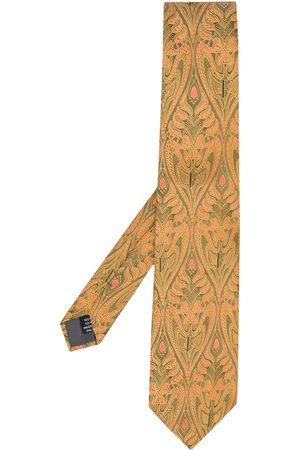 Gianfranco Ferré 1990s floral jacquard tie