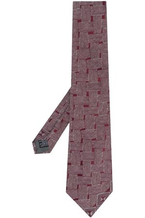 Gianfranco Ferré 1990 weave print tie