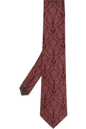 Gianfranco Ferré 1990 peacock print tie