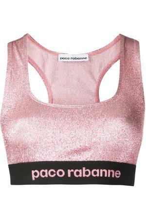 Paco rabanne Logo band sports bra
