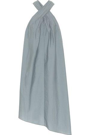Brunello Cucinelli Exclusive to Mytheresa – Asymmetric cotton-blend halterneck dress