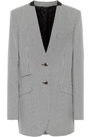 Givenchy Houndstooth wool-blend blazer