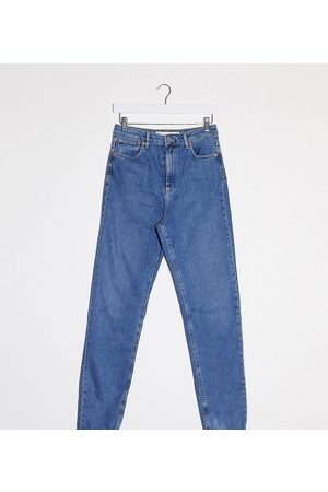 ASOS ASOS DESIGN Tall Recycled Farleigh high waist slim mom jeans in mid vintage wash