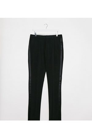 ASOS Tall super skinny tuxedo suit trousers in